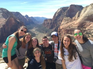 EVS Students on Spring Break at Zion (Spring 2015)